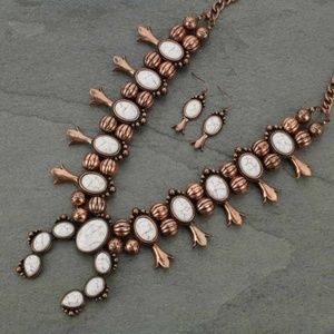 LAST ONE Western Style Squash Blossom Necklace Set